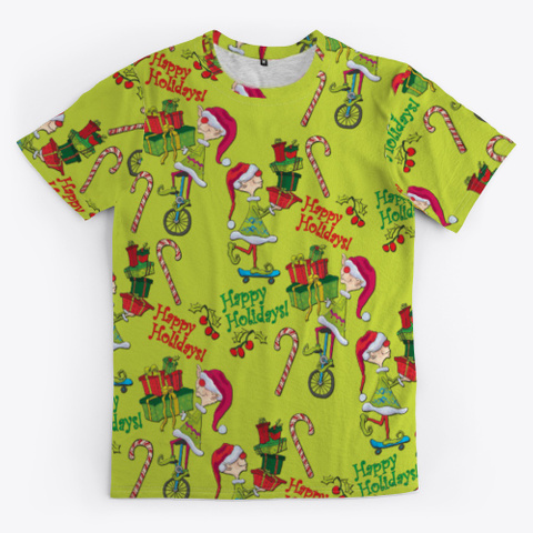 Holiday Elves Gifts Candycane Standard T-Shirt Front