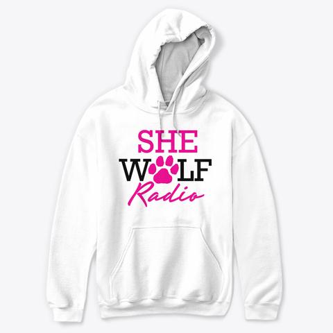 She Wolf Radio White T-Shirt Front