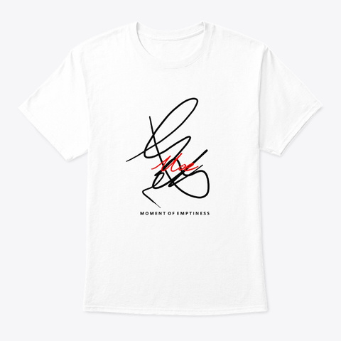 Moe   Moment Of Emptiness White T-Shirt Front