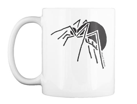 Spider Mug White T-Shirt Front