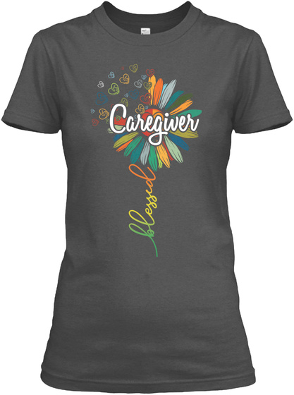 Caregiver Blessed Charcoal T-Shirt Front