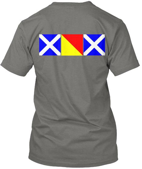 Maritime Nautical Flags   Mom Grey T-Shirt Back