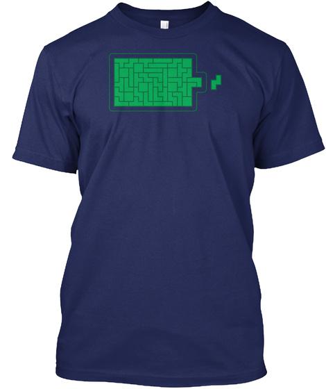 Battery Tetris Midnight Navy T-Shirt Front
