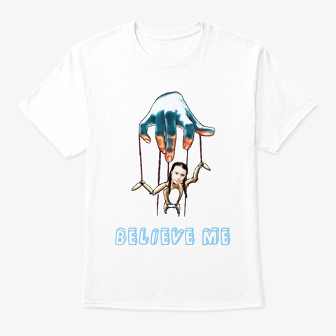 Climate Strike Puppet White T-Shirt Front