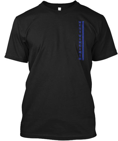 West Virginia Black T-Shirt Front