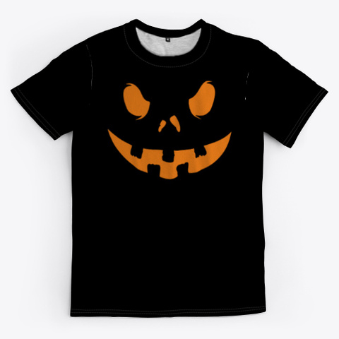 T Shirt Citrouille De Halloween Black Camiseta Front