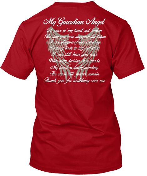 My Grand Angel Deep Red T-Shirt Back