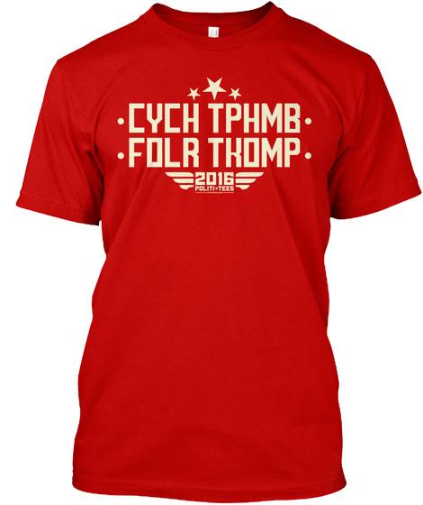 Cych Tphmb Folr Tkomp 2016 Politi Tees Classic Red Maglietta Front