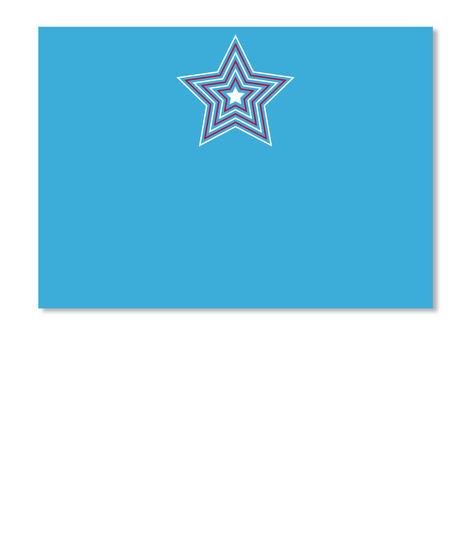 Hypnotizing Star Logo: Top Quality Tee Lt Blue T-Shirt Front