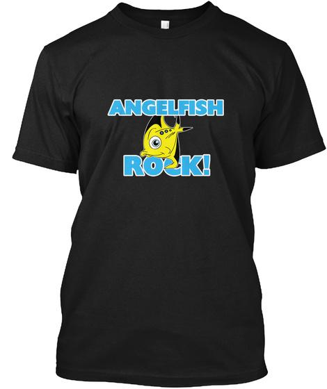 A Ngelfish Rock! Black T-Shirt Front