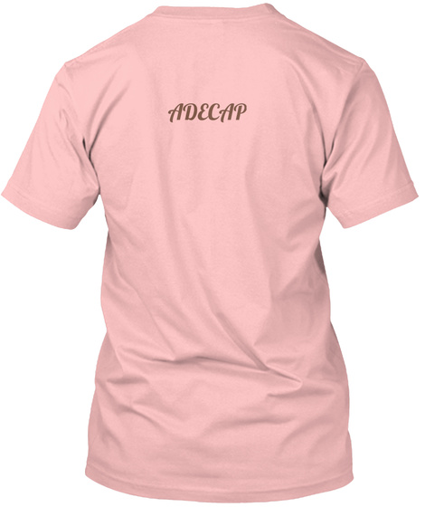 Adecap Pale Pink T-Shirt Back