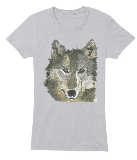 Wolf Wild Perrin Ireland Tee  Heather Grey T-Shirt Front