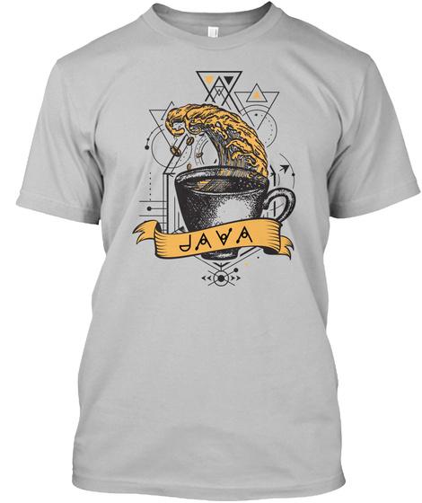 Java Programming Print (Eu) Sport Grey T-Shirt Front