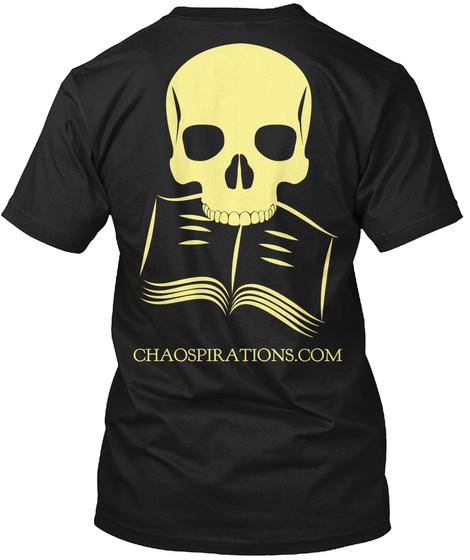 Chaospirations.Com Black T-Shirt Back