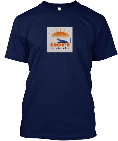 Hope Services Inc. Navy T-Shirt Front