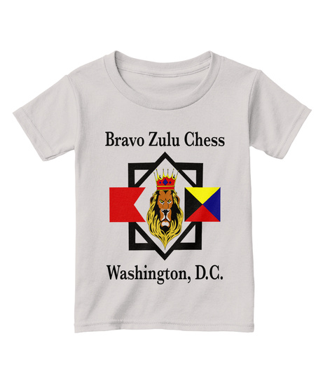 Bravo Zulu Chess Washington D C Sport Grey  T-Shirt Front