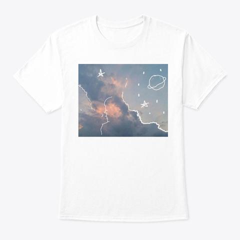 Sky Kiss White T-Shirt Front