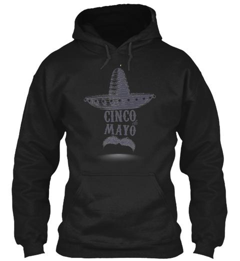 Cinco De Mayo Black T-Shirt Front