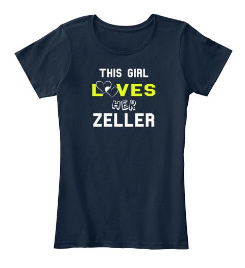 This Girl L               Ves Her Zeller New Navy T-Shirt Front
