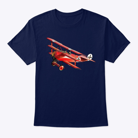 The Red Baron Navy T-Shirt Front
