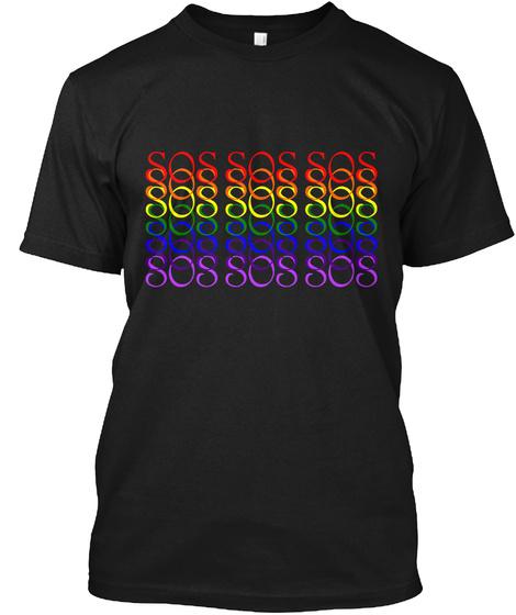 Sos Sos Sos Sos Sos Sos Sos Sos Sos Sos Black T-Shirt Front