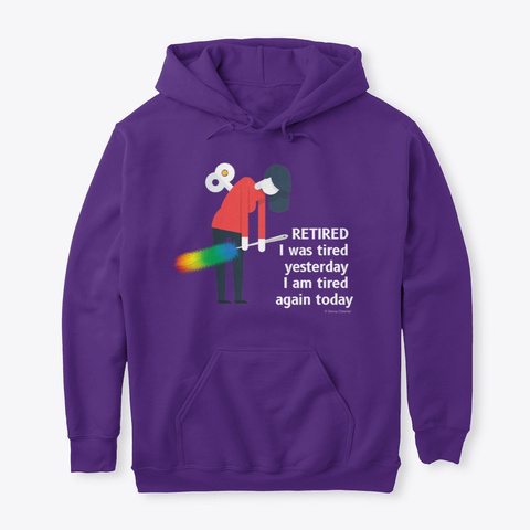 Retired Housekeeping Lady Cleaning Gifts Purple T-Shirt Front