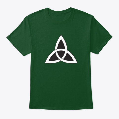 Celtic Knot Simple Deep Forest T-Shirt Front