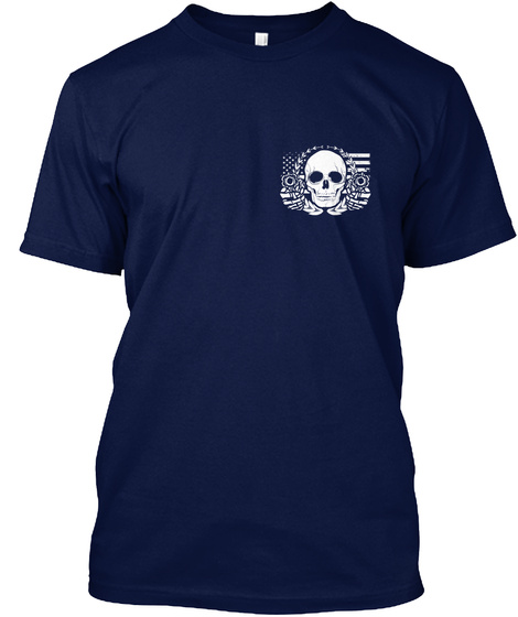 Armed Citizens Of Michigan! Navy T-Shirt Front