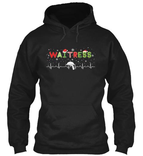 Proud Waitress Black T-Shirt Front