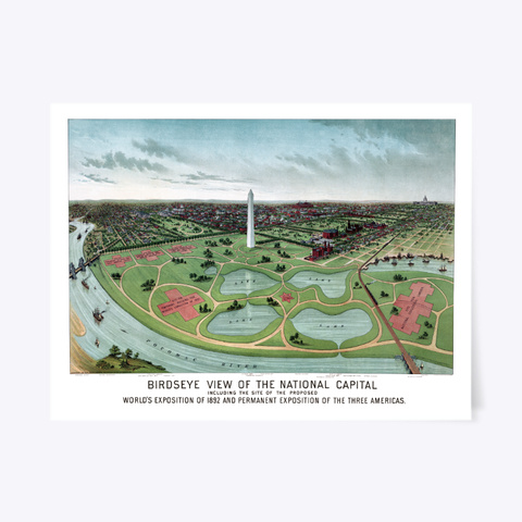 Washington D.C. World's Fair 1892 Standard T-Shirt Front