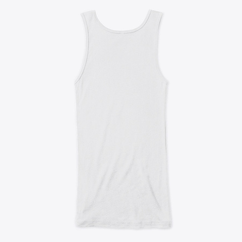 How Expert Fitted Women's Tank Top White T-Shirt Back