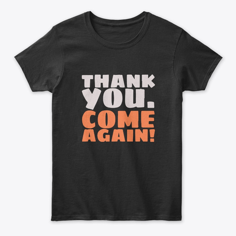 Funny Thanksgiving Tees Black T-Shirt Front