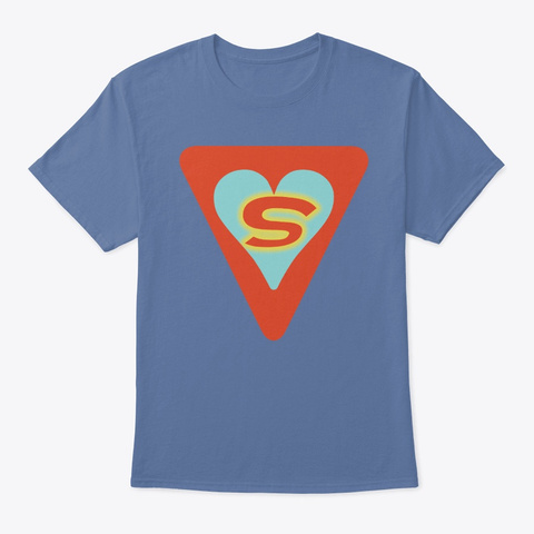 Love Is Our Superpower Denim Blue T-Shirt Front