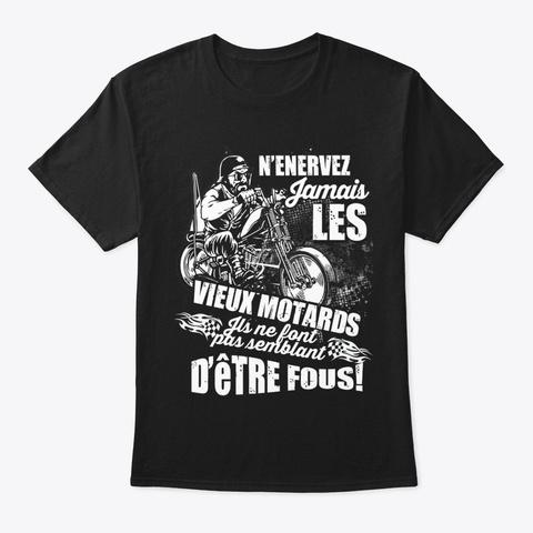 Vieux Motards Black T-Shirt Front