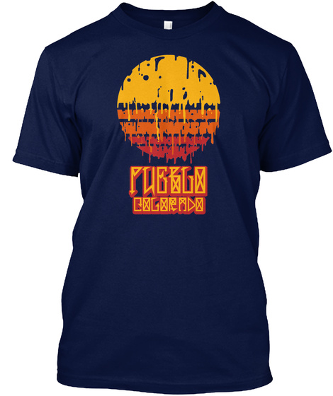 Pueblo Colorado Navy T-Shirt Front