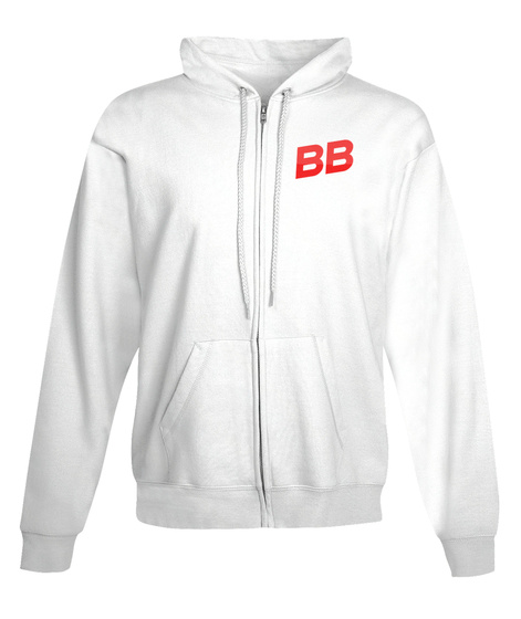 Burch Bros Zipper Hoodie  White T-Shirt Front