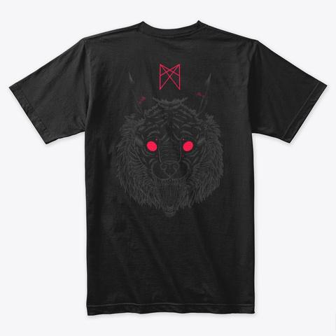 Draumr Wolf Black T-Shirt Back