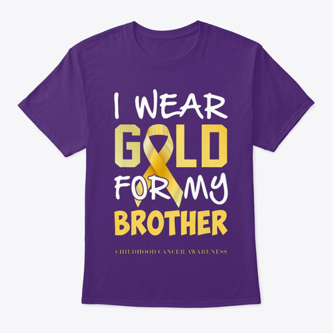 Childhood Cancer Awareness Gold For My B Purple T-Shirt Front