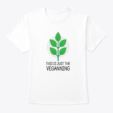 Vegetarian Vegan Shirt Eat Plants White T-Shirt Front