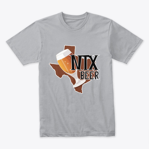 Ntx Beer Wear Heather Grey T-Shirt Front