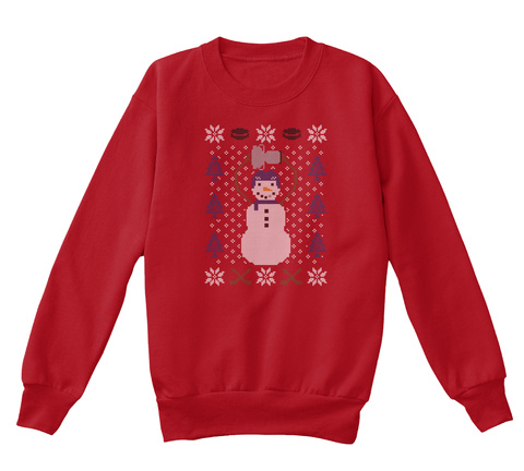 Frosty The Champion (Kids) Deep Red  T-Shirt Front