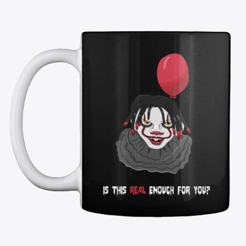Clown Black T-Shirt Front