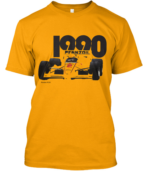 Penske Pc19 Gold T-Shirt Front
