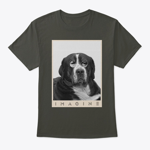Bernese Mountain Imagine Smoke Gray T-Shirt Front