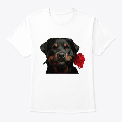 Rottweiler T81 White T-Shirt Front