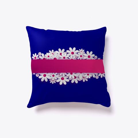 Blumen Band Kissen , Handtuch Ellesson Deep Navy T-Shirt Back