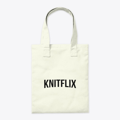 Tote Bag Knitflix Natural T-Shirt Back
