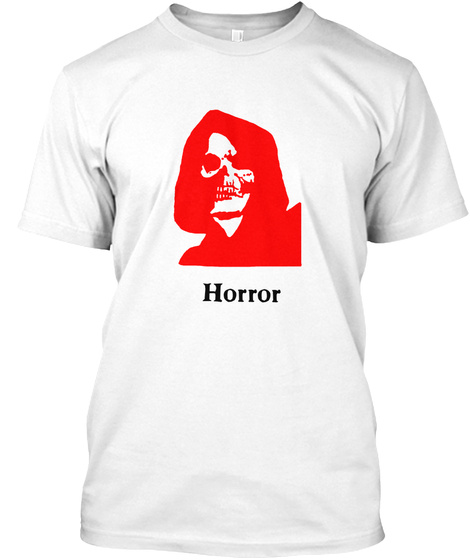 Horror White T-Shirt Front