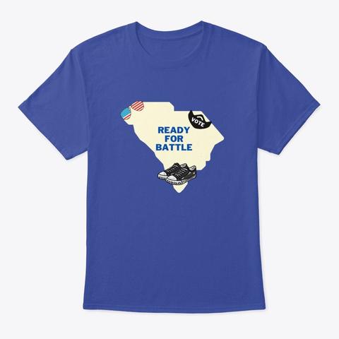 South Carolina Ready For Battle Deep Royal T-Shirt Front