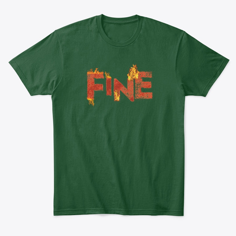 Gabby B Fine Collection Forest Green  T-Shirt Front
